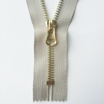 Hanger Plated Metal Zipper