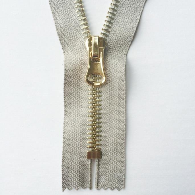 Hanger Plated Metal Zipper
