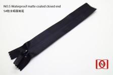NO.5 Waterproof matte coated closed end 5#防水啞面密尾