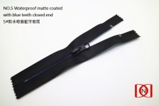 NO.5 Waterproof matte coated with blue teeth closed end 5#防水啞面藍牙密尾