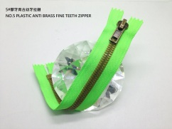 5#膠牙青古幼牙拉鏈 NO.5 PLASTIC ANTI BRASS FINE TEETH ZIPPER