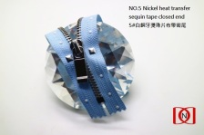 NO.5 Nickel heat transfer sequin tape closed end 5#白銅牙燙圓形珠片布帶密尾2